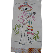 Spanish Man Embroidered Towel
