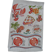 Embroidered Food  Towel