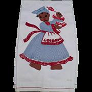 Black Chef Applique Towel