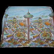 Seattle Worlds Fair 1962-3 Print Cotton Panel