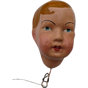 Boy Doll Head Papier Mache