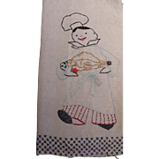 Embroidered Chef Towel