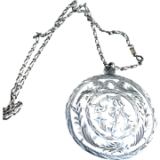 Sterling Medallion Necklace