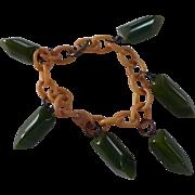 Bakelite Dangle Bracelet