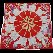 1951 Calendar Handkerchief