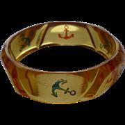Applejuice Bakelite Anchor Bracelet