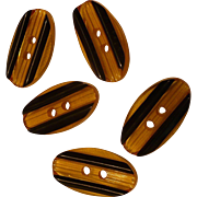 Applejuice Black Bakelite Laminate Buttons