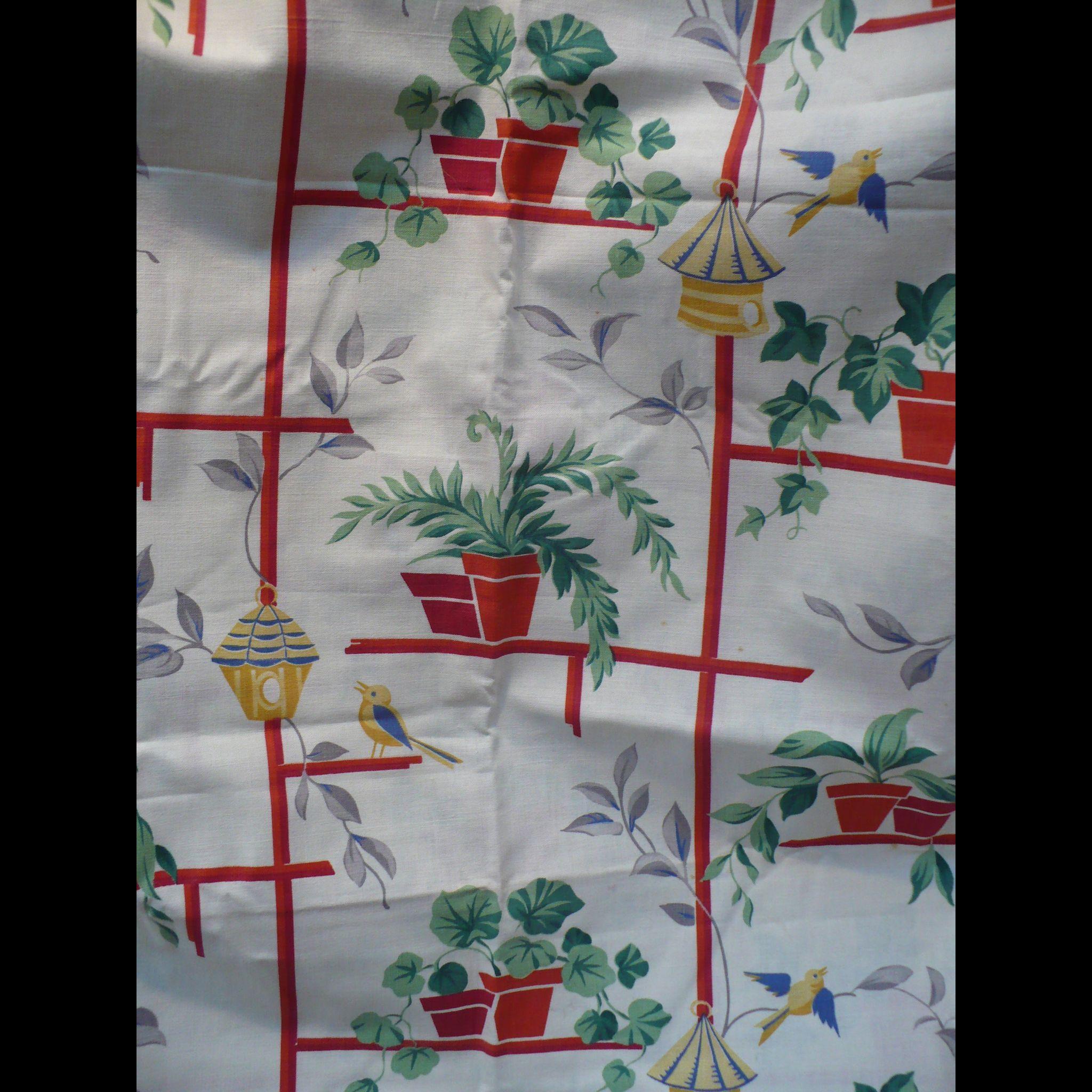 1950's Flowerpot Fabric