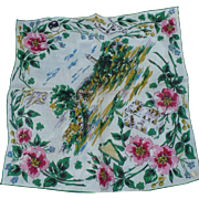Irish Castle Linen Handkerchief