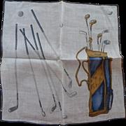 Golf Theme Handkerchief