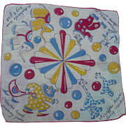 Circus Child's Handkerchief