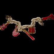 Bakelite Musical Instrument Bracelet