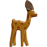 Bakelite Deer Pin