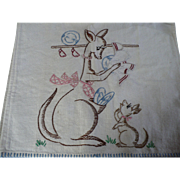 Kangaroo Baby Embroidered Towel