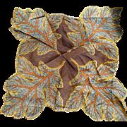 Leaf Chiffon Handkerchief