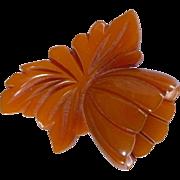 Butterscotch Bakelite Flower Clip