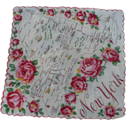 New York Souvenir Handkerchief