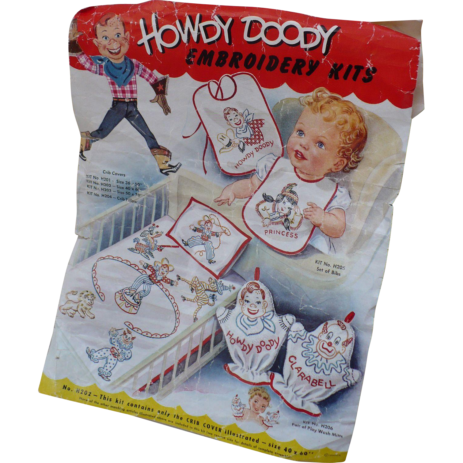 Howdy Doody Crib Cover Kit for Embroidery