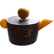 Bakelite Wood Perfume Teapot