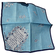 Vintage Friendship Handkerchief