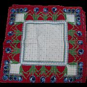 Red Tulip Handkerchiefs