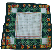 Green Tulip Handkerchiefs