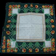 Green Tulip Handkerchiefs