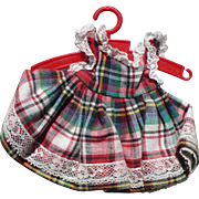 Plaid Ginger Doll Dress