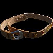 Tan Beaded Belt