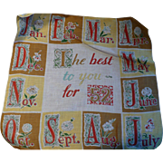 1952 Month Handkerchief