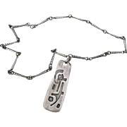 Brutalist Pendant & Chain
