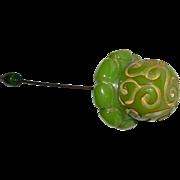 Carved Bakelite Stickpin