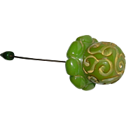 Carved Bakelite Stickpin