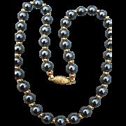 Hematite Beaded Necklace