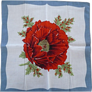 Poppy Flower Handkerchief