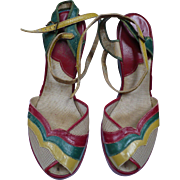 1940's Multicolor Shoes