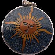 Sterling Sun Moon Pendant
