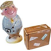 Tourist Suitcase Salt & Pepper Set