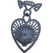 Walker Heart Lapel Watch