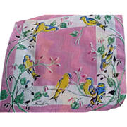 Finch Bird Handkerchief