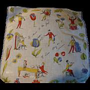 Shakespeare Music Love Handkerchief