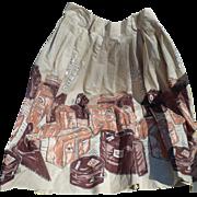 1950's Travel Skirt
