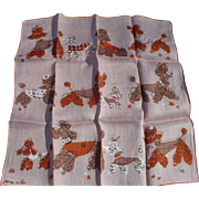 Jeanne Miller Poodle Handkerchief