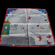 Homard French Recipe Handkerchief