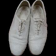 Mens Florsheim White Leather Shoes 11D