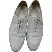 Mens Florsheim White Leather Shoes 11D