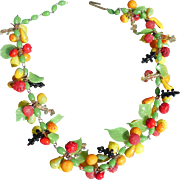 Glass Fruit Necklace