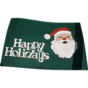 Santa Happy Holidays Door Mat