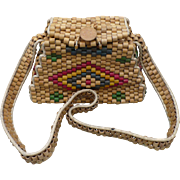 Wooden Bead Purse