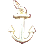 14K Small Anchor Charm